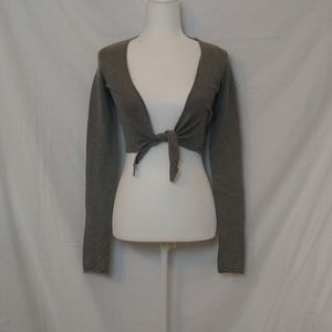 Abercrombie & Fitch Cropped Gray Cardigan